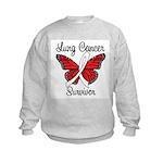 Lung Cancer Survivor Kids Sweatshirt