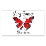 Lung Cancer Survivor Rectangle Sticker 10 pk)