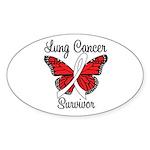 Lung Cancer Survivor Oval Sticker (10 pk)