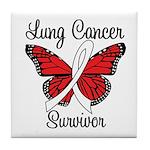 Lung Cancer Survivor Tile Coaster
