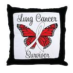Lung Cancer Survivor Throw Pillow