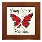 Lung Cancer Survivor Framed Tile