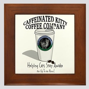 Caffeinated Kitty Latte Framed Tile