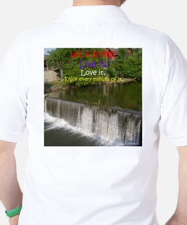 The Old Mill Waterfall Golf Shirt
