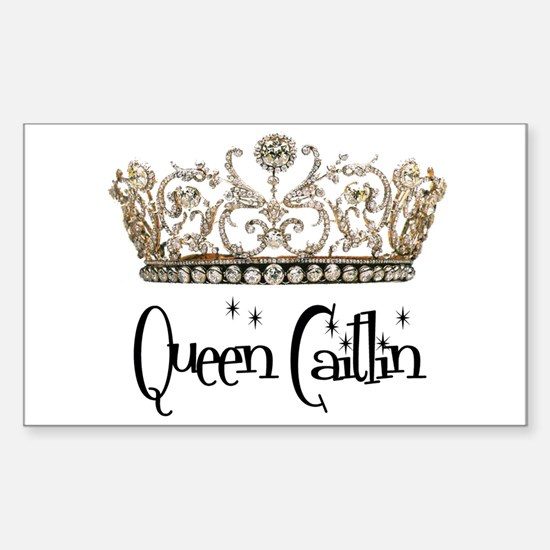 Queen Caitlin Rectangle Decal