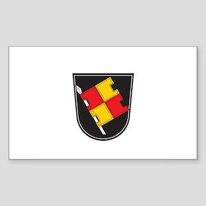 WURZBURG Rectangle Sticker