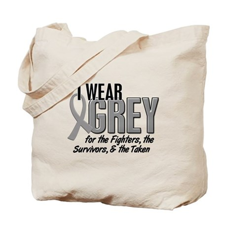 I Wear Grey 10 (Fighters Survivors Taken) Tote Bag