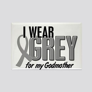 I Wear Grey For My Godmother 10 Rectangle Magnet