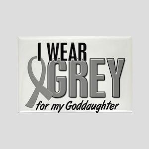 I Wear Grey For My Goddaughter 10 Rectangle Magnet