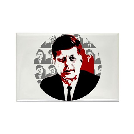 John F Kennedy Rectangle Magnet (100 pack)
