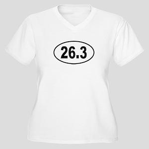 26.3 Womes Plus-Size V-Neck T-Shirt