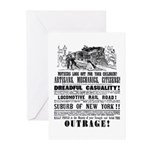 RAILROAD OUTRAGE Greeting Cards (Pk of 10)