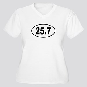 25.7 Womes Plus-Size V-Neck T-Shirt