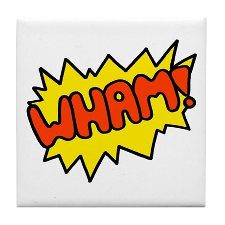 'Wham!' Tile Coaster