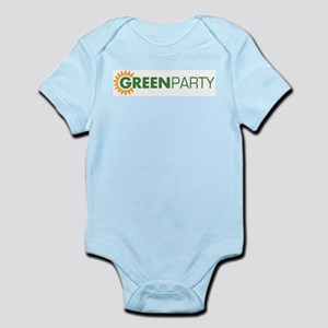 Green Party Logo (sunflower)  Infant Creeper