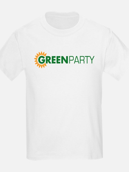 Green Party Logo (sunflower)  Kids T-Shirt