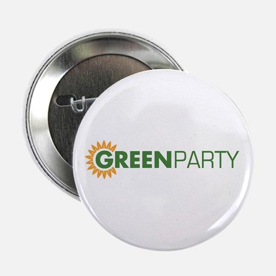 Green Party Logo (sunflower) Button