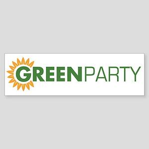 Green Party Logo (sunflower) Bumper Sticker