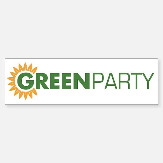 Green Party Logo (sunflower) Bumper Bumper Bumper Sticker