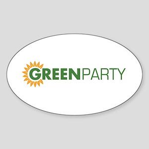 Green Party Logo (sunflower) Oval Sticker