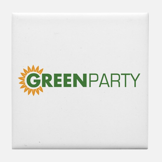 Green Party Logo (sunflower)  Tile Coaster