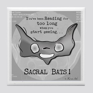 Sacral Bats! Tile Coaster