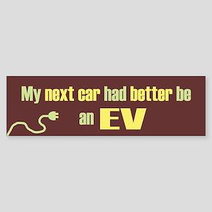 Next Car EV Bumper Sticker
