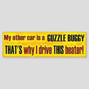 No Guzzle Buggy Bumper Sticker