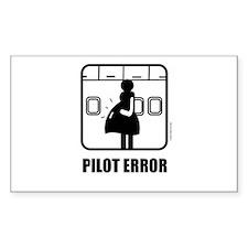*NEW DESIGN* Pilot Error Rectangle Sticker