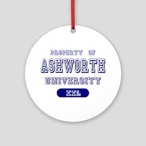 Property of Ashworth University Ornament (Round)