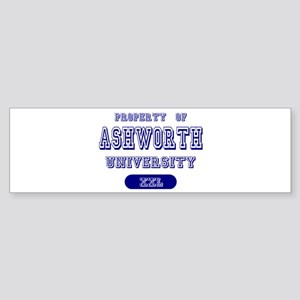 Property of Ashworth University Bumper Sticker