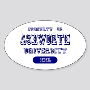 Property of Ashworth University Oval Sticker