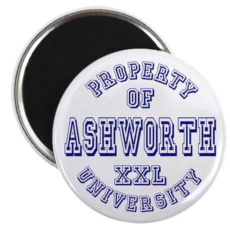 "Property of Ashworth University XXL 2.25"" Magnet ("