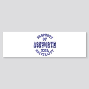 Property of Ashworth University XXL Sticker (Bumpe