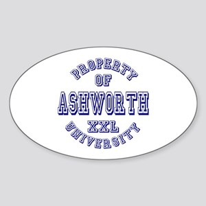 Property of Ashworth University XXL Oval Sticker