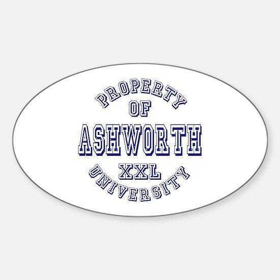 Property of Ashworth University XXL Oval Decal