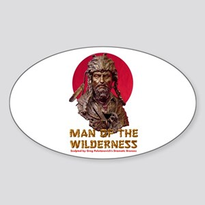 MAN OF THE WILDERNESS Oval Sticker