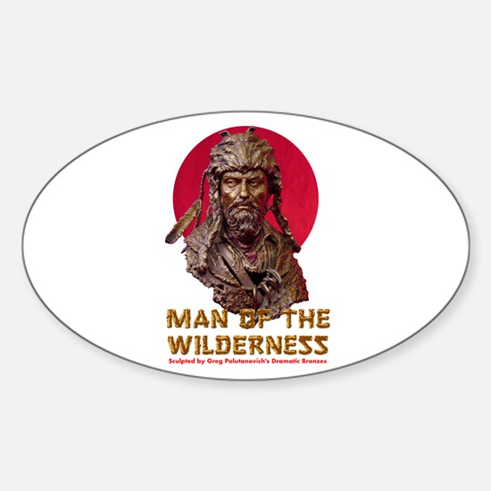 MAN OF THE WILDERNESS Oval Decal