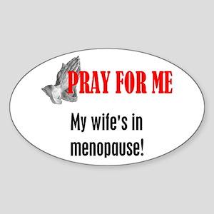 Wife In Menopause Oval Sticker