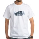 2-IMAGE-RAILROAD OUTRAGE White T-Shirt