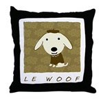 Le Woof Throw Pillow