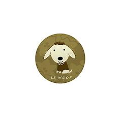 Le Woof Mini Button (10 pack)