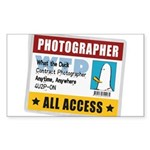 WTD: Credentials Rectangle Sticker 10 pk)