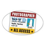 WTD: Credentials Oval Sticker (10 pk)