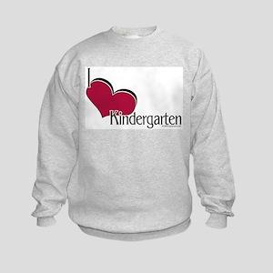 I Love Kindergarten Kids Sweatshirt