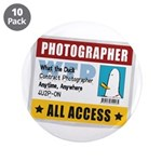 "WTD: Credentials 3.5"" Button (10 pack)"