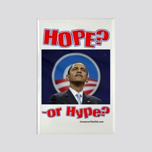 """""""Hope or Hype?"""" Rectangle Magnet"""