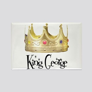 King George Rectangle Magnet