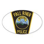 Fall River Police Oval Sticker (50 pk)