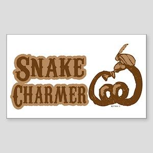 Snake Charmer Rectangle Sticker